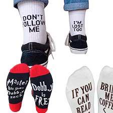 calcetines mensaje